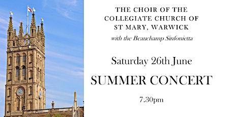 St Mary's, Warwick: Choir Summer Concert tickets