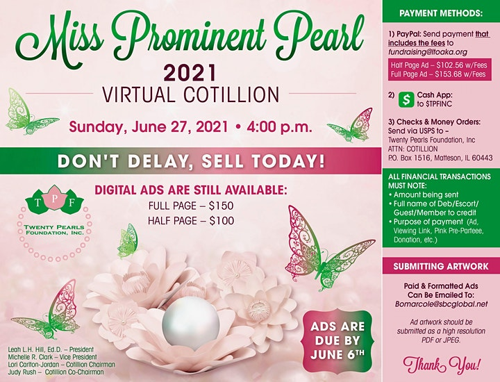 Miss Prominent Pearl 2021 Virtual Cotillion image