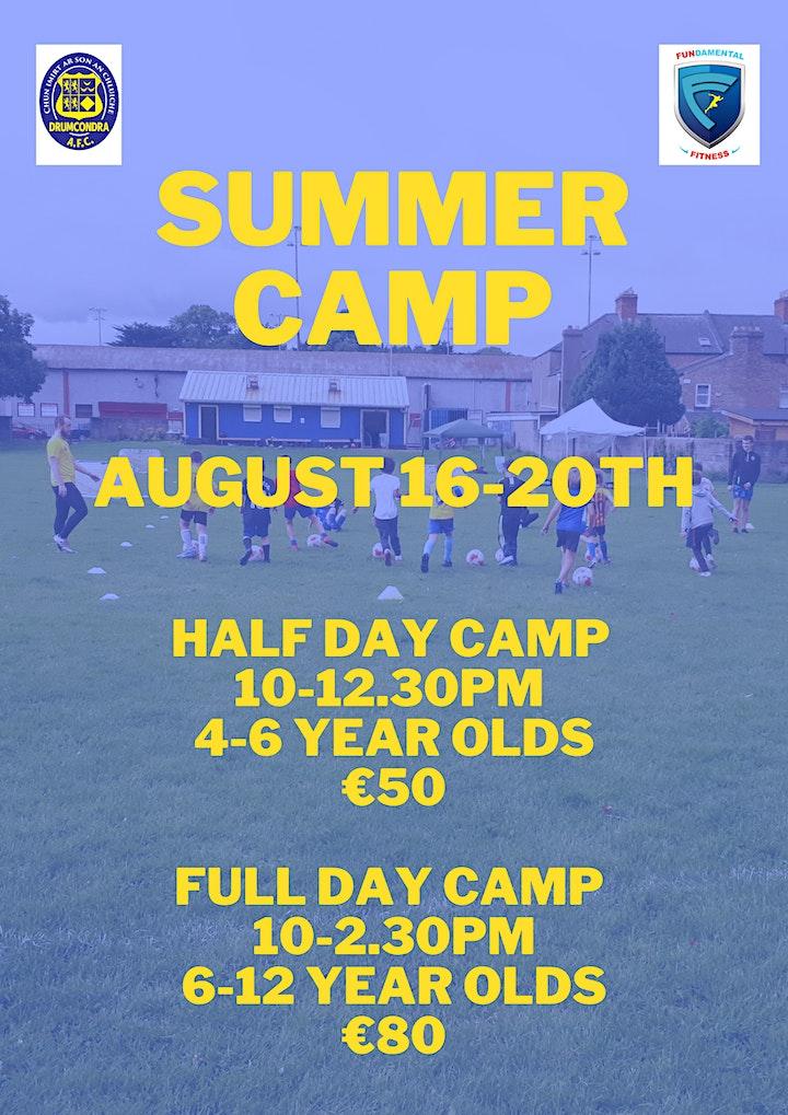 Drumcondra AFC August Football Camp image