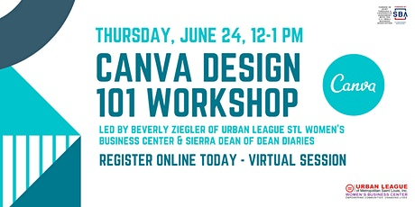 Canva Design 101 Virtual Workshop tickets