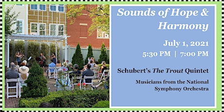 """Sounds of Hope & Harmony: """"Schubert's The Trout Quintet"""" – Chamber Music tickets"""