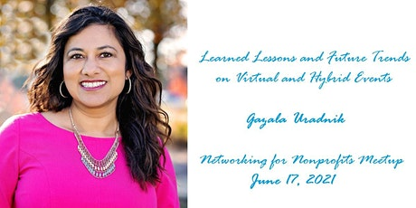 Virtual and Hybrid Events with Networking for Nonprofits Meetup Tickets