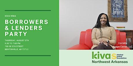 NWA Kiva Hub Lenders/Borrowers Party tickets