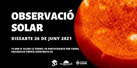 Observació Solar Planetari - Torn 11:30 entradas