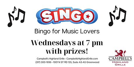 Singo - The Musical Bingo at Campbell's tickets