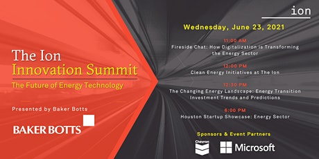 The Ion Innovation Summit: Future of Energy Tech presented by Baker Botts tickets