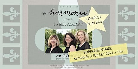 CONCERT au JARDIN - la Fête Nationale *COMPLET* SUPPLÉMENTAIRE 3 juillet tickets