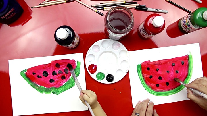 Art Class ( June 30th) Paint a watermelon image