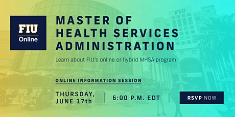 FIU Online Master of Health Services Administration - Information Session entradas