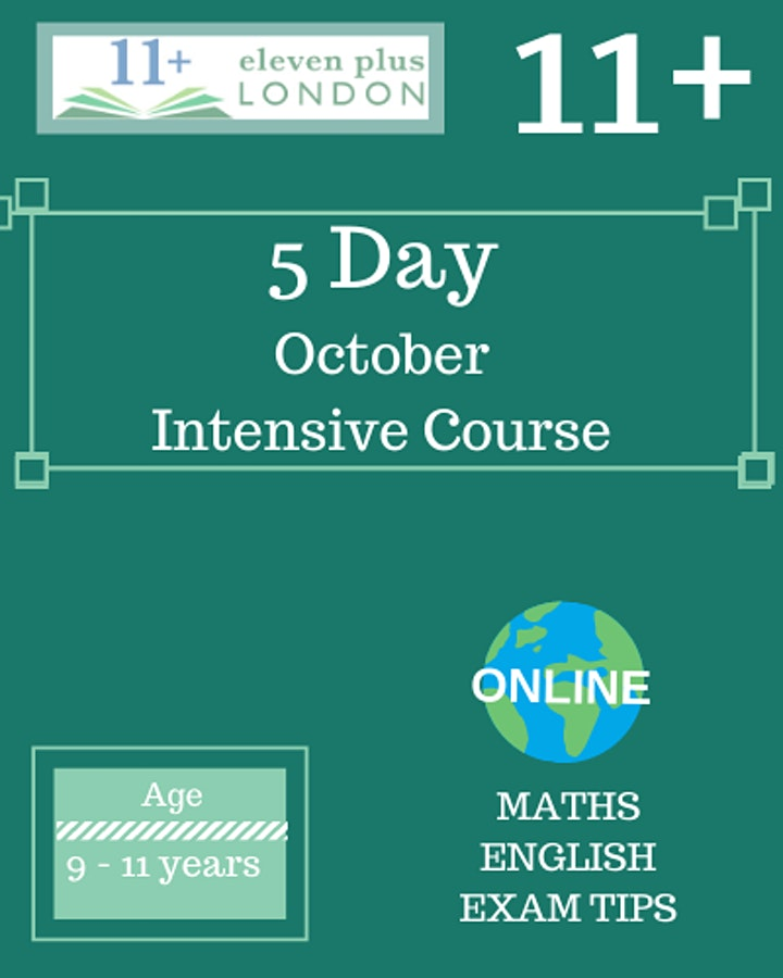 11+ October  Half Term  Intensive  Course (Face to face in Victoria,London) image