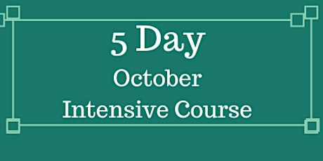 11+ October  Half Term  Intensive  Course (Face to face in Victoria,London) tickets