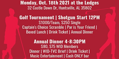 2021 WID-TVC Golf Tournament & Membership Annual Dinner tickets