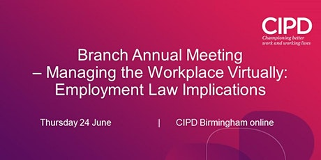 Branch Annual Meeting - Managing the Workforce Virtually tickets