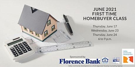 June 2021 First Time Homebuyer Webinar Series tickets