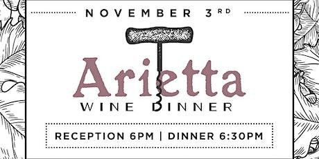 Arietta Winemaker Dinner at Heaton's Vero Beach! tickets