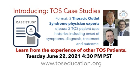 TOS Case Studies: 3 experts discuss their collaborative approach to care. tickets