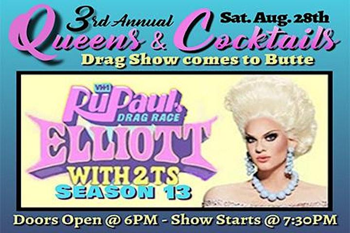 Drag Show - Queens & Cocktails w/ RuPauls Drag Race Elliott w/ 2 T's image