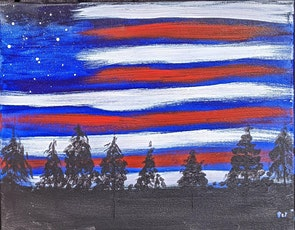 Guided Paint Experience & Wine Tasting-Independence Day tickets