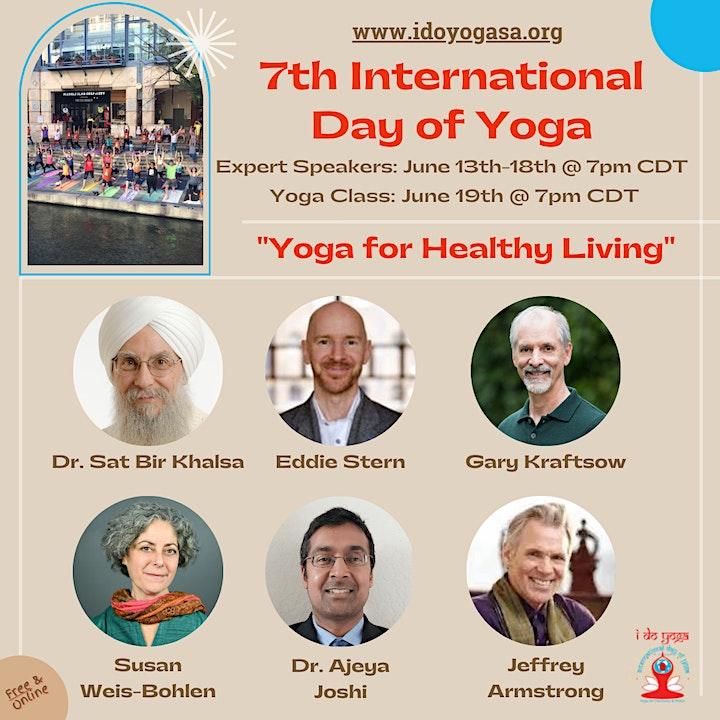 "7th Int'l Day of Yoga: San Antonio Celebrates ""Yoga for Healthy Living"" image"