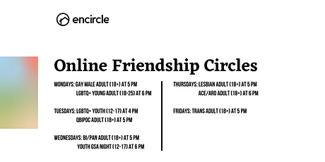 Online Ace/Aro Adult (18+) Friendship Circle tickets