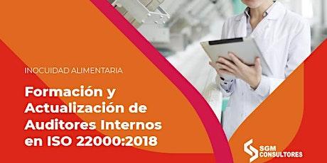 Formación y Actualización de Auditores Internos en ISO 22000:2018 tickets