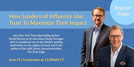 How Leaders of Influence Use Trust To Maximize Their Impact tickets