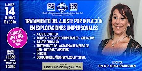 Tratamiento del Ajuste por Inflación en Explotaciones Unipersonales tickets