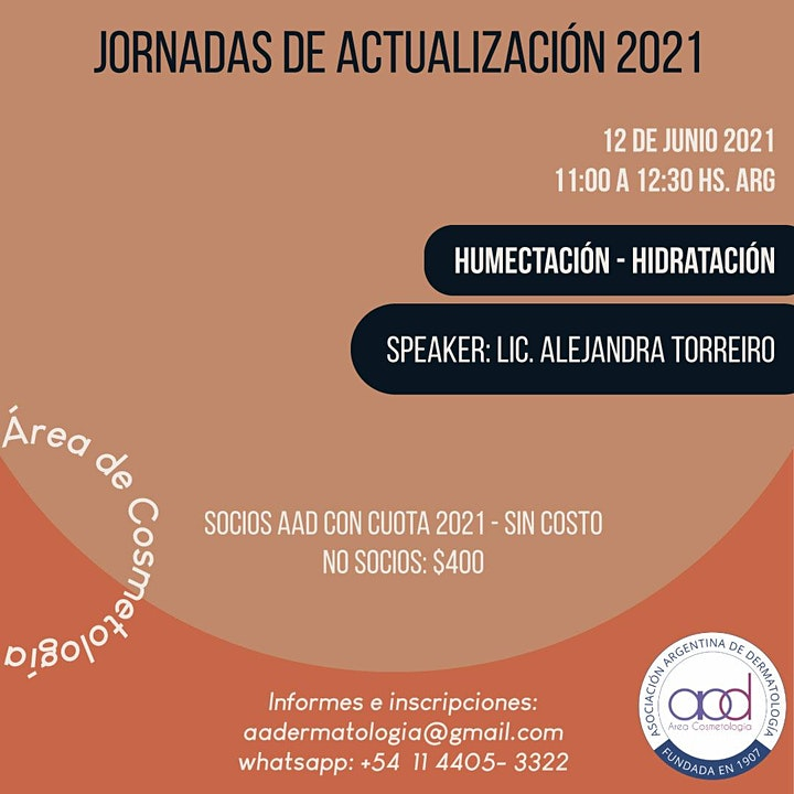 Imagen de MASTER CLASS  HUMECTACION HIDRATACIÓN - ÁREA COSMETOLOGÍA AAD