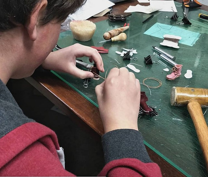 Miniature Leather Boot Making with Sarah Van Oosterom image