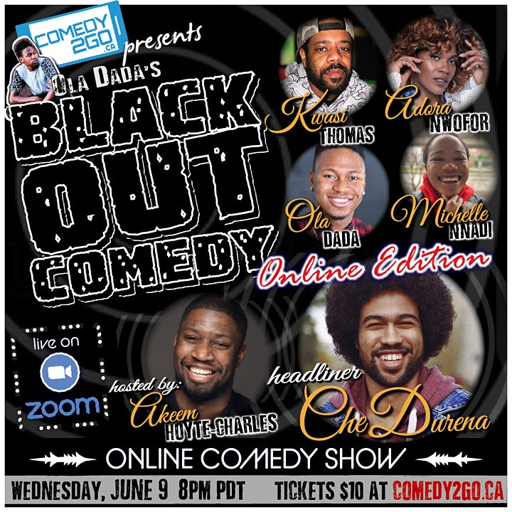 Comedy2Go presents: Ola Dada's Black Out Comedy | Online Comedy Show image