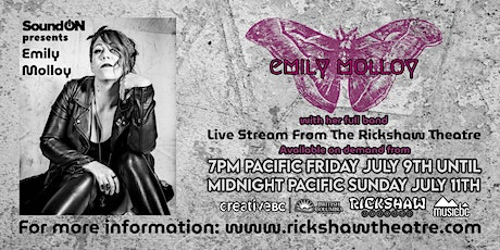 Emily Molloy Live Stream from The Rickshaw Theatre tickets