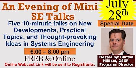 First Annual Evening of Mini SE Talks tickets