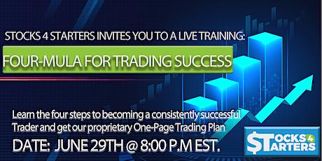 LIVE Training - Four-Mula For Trading Success ingressos
