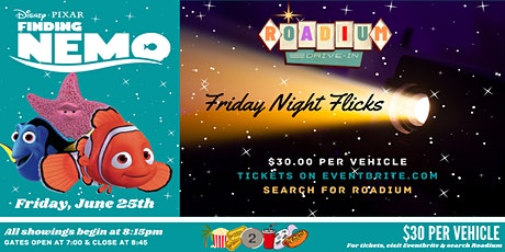 FINDING NEMO  - Presented by The Roadium Drive-In tickets