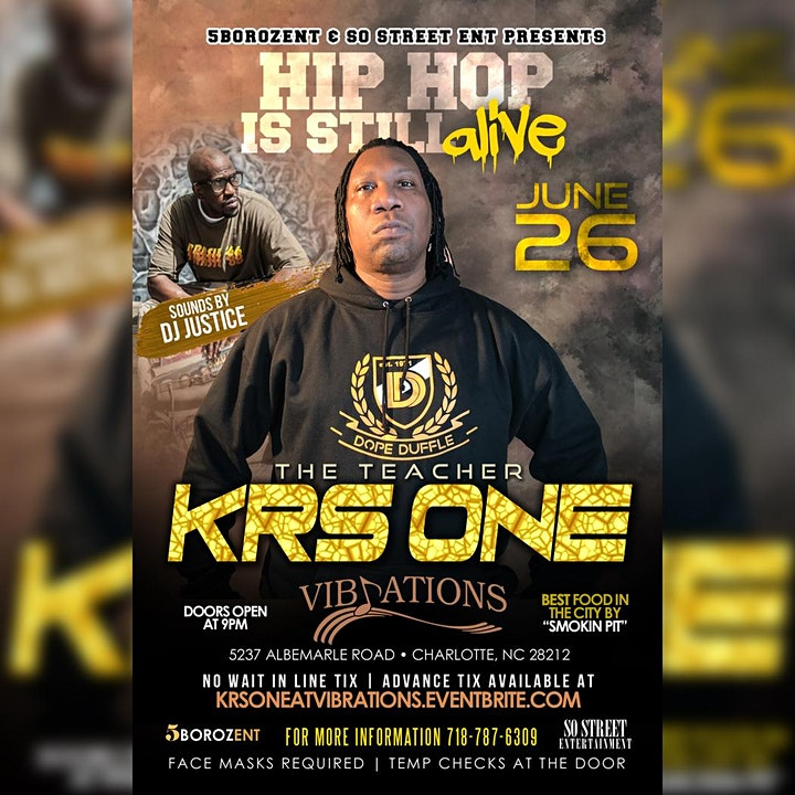 HIP HOP IS STILL ALIVE  TOUR with KRS ONE image