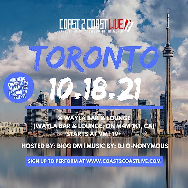 Coast 2 Coast LIVE Showcase Toronto - Artists Win $50K In Prizes image