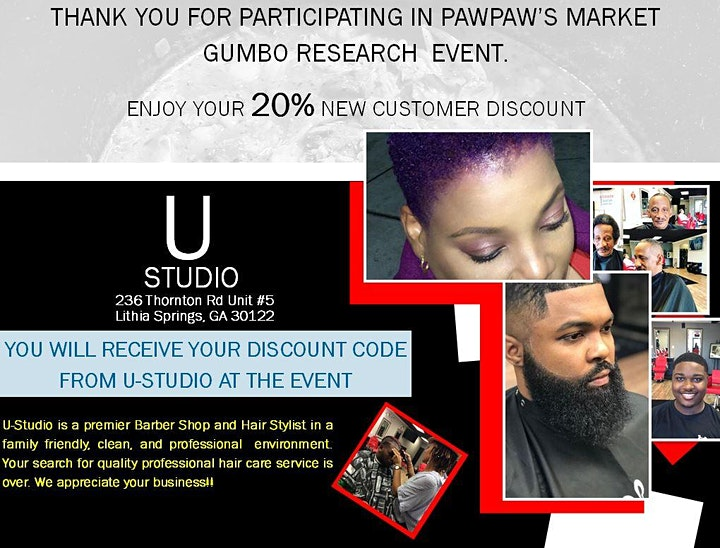 PawPaw's Gumbo: Market Research (Atlanta Event) image