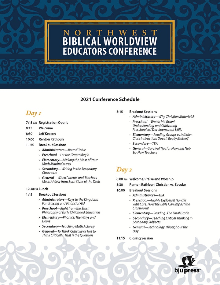 2021 Portland  Biblical Worldview Educators Conference image