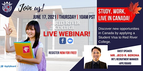 FREE WEBINAR- STUDY IN RED RIVER COLLEGE, CANADA tickets