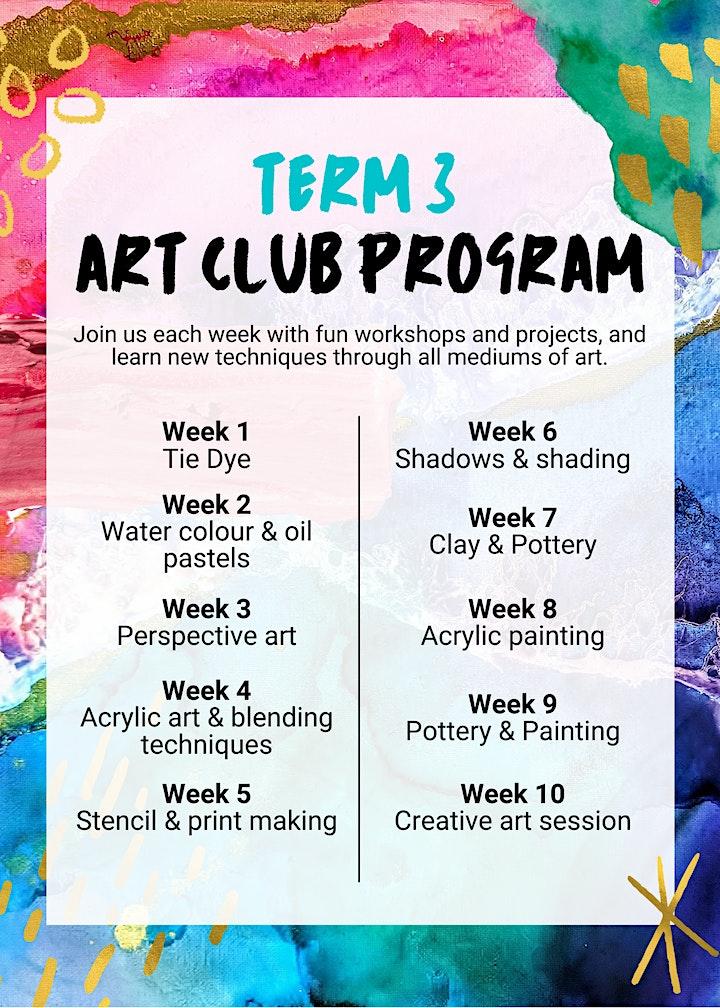 Term 3 Art Club- Dalyellup image