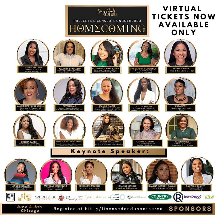"""2021 Savvy Chicks in Real Estate """"Licensed & Unbothered® 3 Day Conference image"""