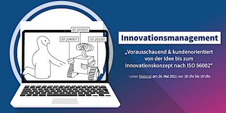 Innovationsmanagement nach ISO 56002 Tickets