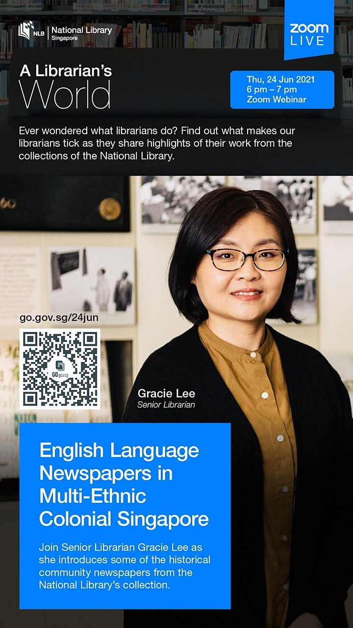 A Librarian's World: English Language Newspapers in Colonial Singapore image