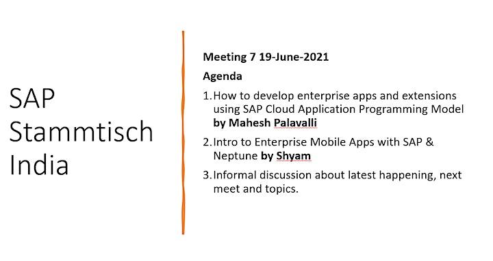 SAP Stammtisch India - Meeting 7 image