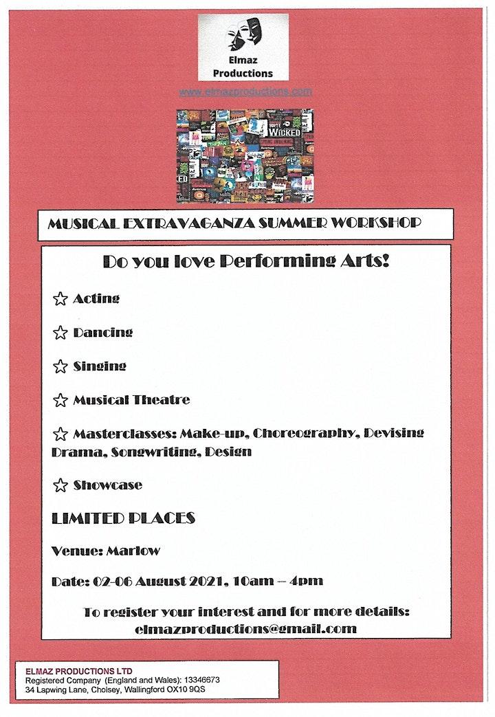 Musical Extravaganza Summer Workshop ages 6-16 image