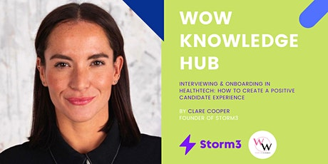 WoW Knowledge Hub - Interviewing & Onboarding in HealthTech tickets