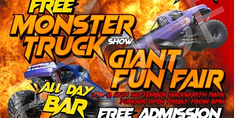 Free Monster Truck Show and giant Carnival with free entry. tickets
