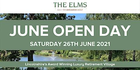 June Open Day - The Elms Retirement Village tickets
