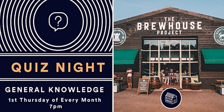 The Brewhouse Project General Knowledge Quiz tickets