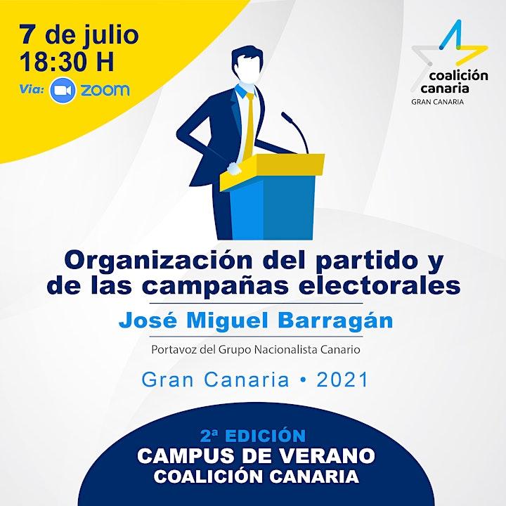 """Imagen de Campus verano CC """"Organización del partido y de las campañas electorales"""""""